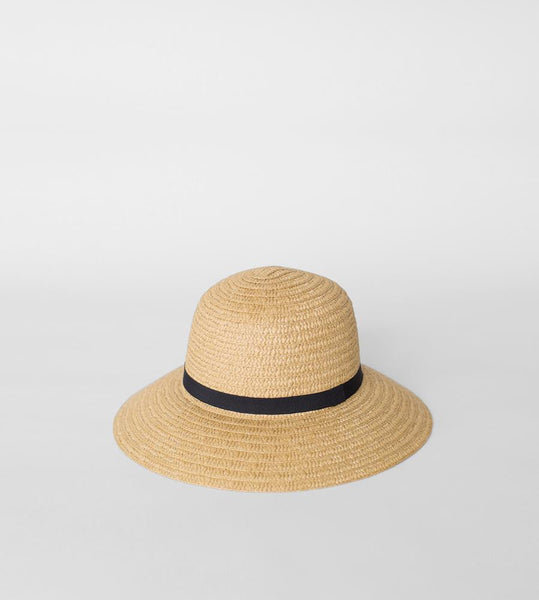 Sophie | So Shady Ribbon Hat | Natural with Black