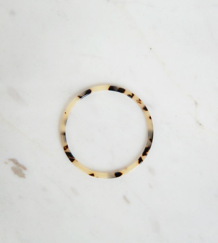 Sophie | Tort Bangle | Light | Large