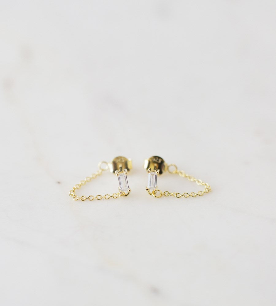 Sophie | You Rock Chain Stud Earrings | Gold