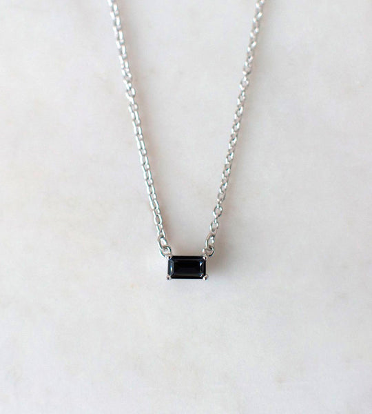 Sophie | You Rock Necklace Rectangle Black