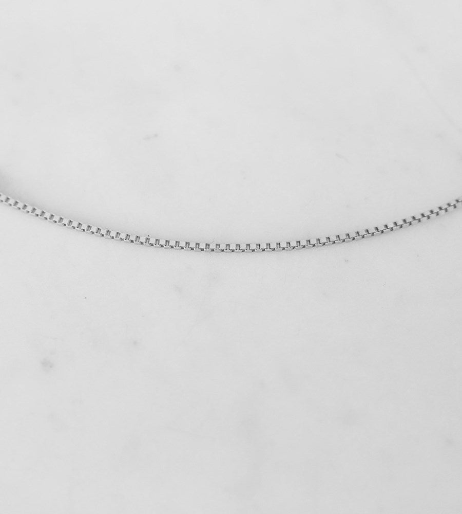 Sophie | Box Chain Necklace | Silver