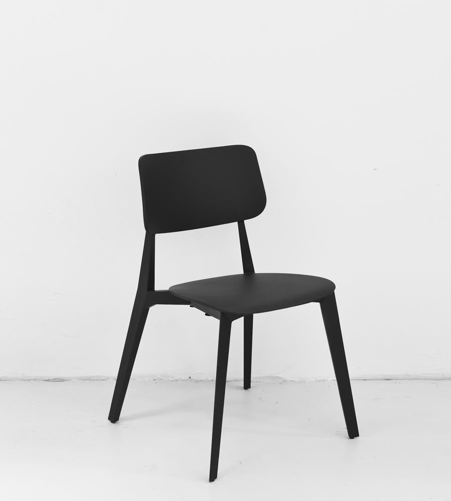 Stellar Stackable Dining Chair | Black