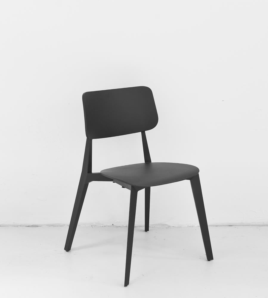 Stellar Stackable Dining Chair | Charcoal