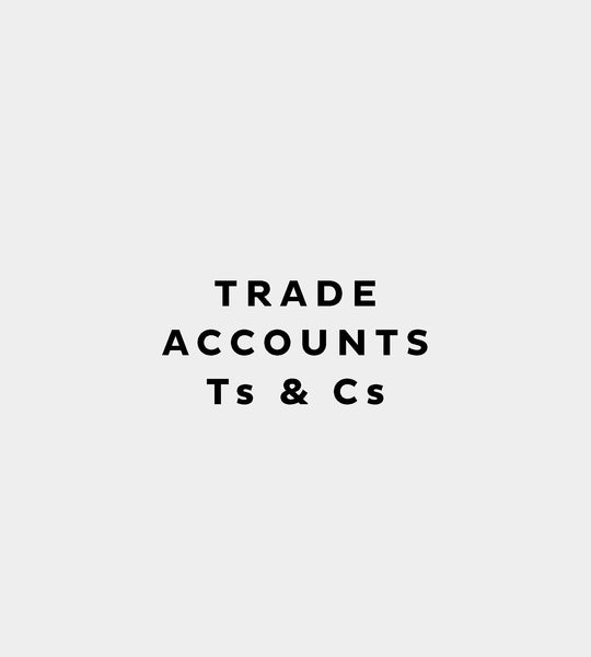 Trade Account Terms & Conditions