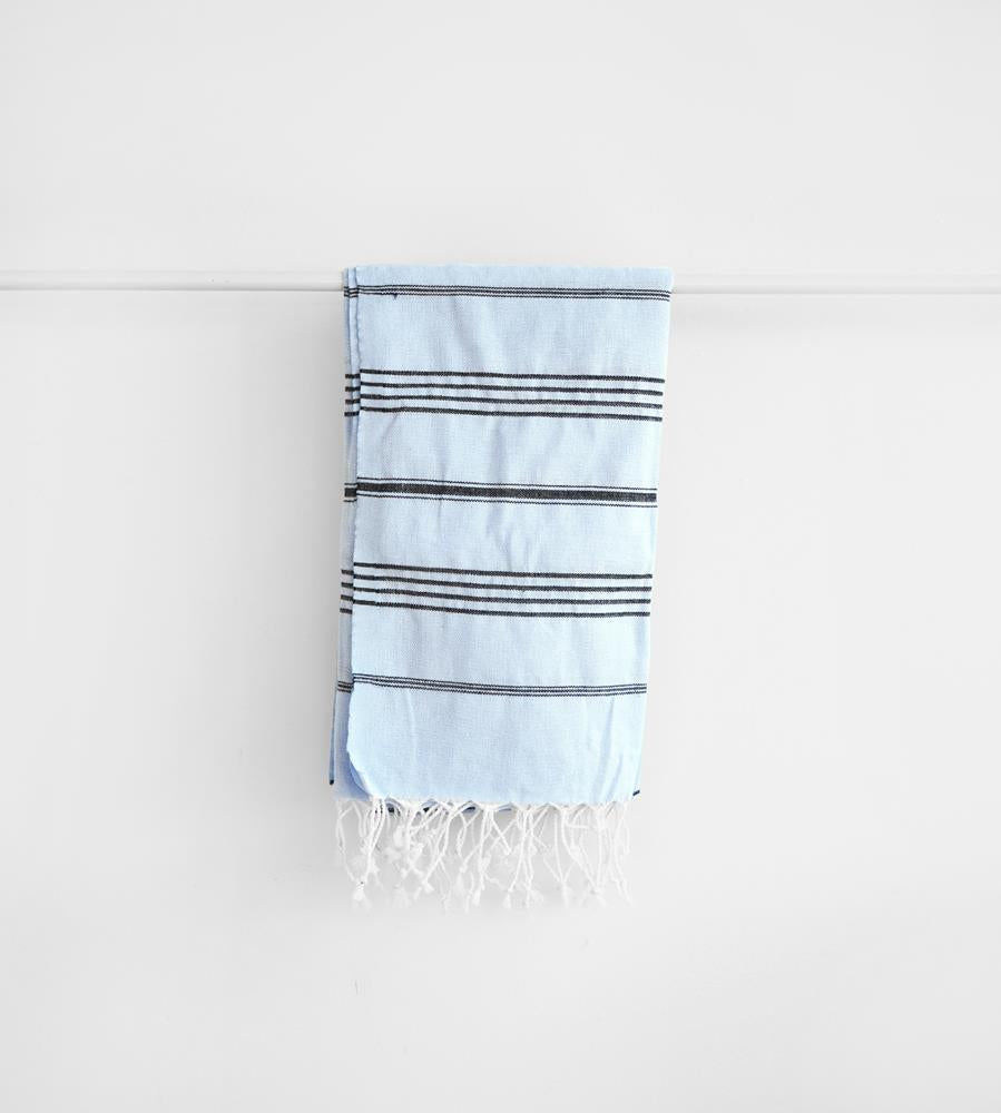 Father Rabbit Goods | Turkish Towel | The Nautical | Pale Blue