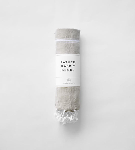 Father Rabbit Goods | Turkish Towel | The Nautical | Pale Grey