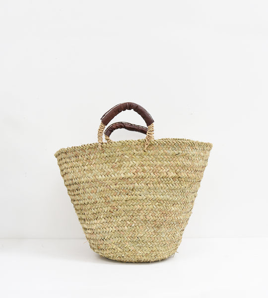 Tangier | Rustic Basket with Leather Handles
