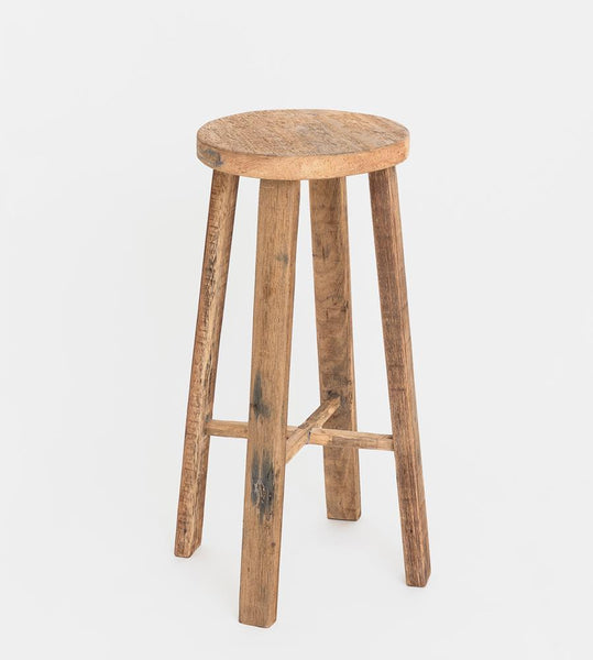 Teak Bar Stool | Natural
