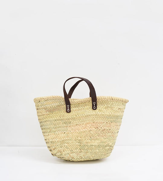 The Marseillais | French Market Basket with Flat Handle | Medium