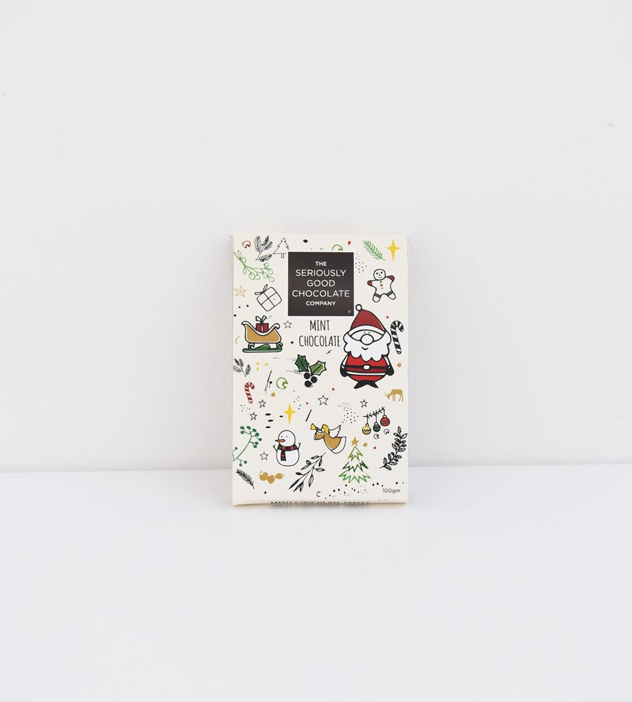 The Seriously Good Chocolate Company | Chocolate Tablets | Christmas Collage Mint