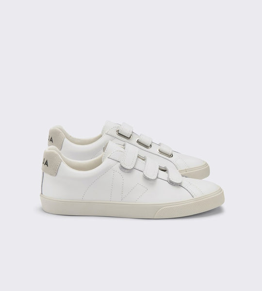Veja 3-Lock Leather Sneaker Extra White