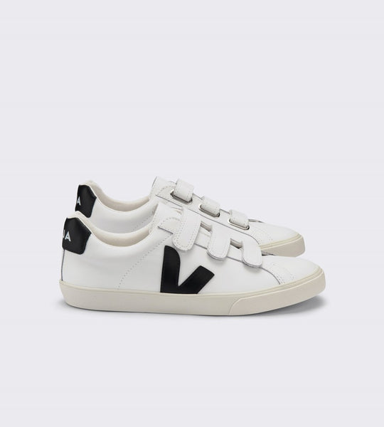 Veja 3-Lock Leather Sneaker Extra White Black