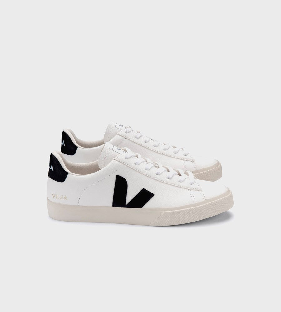Veja | Campo Chromefree Leather Sneaker | Extra White Black