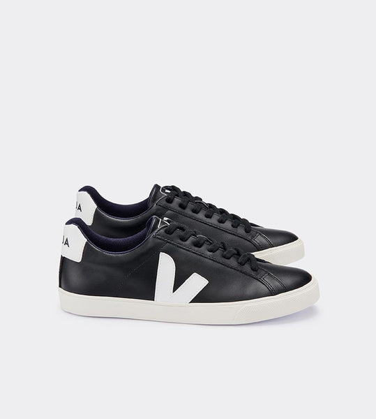 Veja | Esplar Leather Sneaker | Black White
