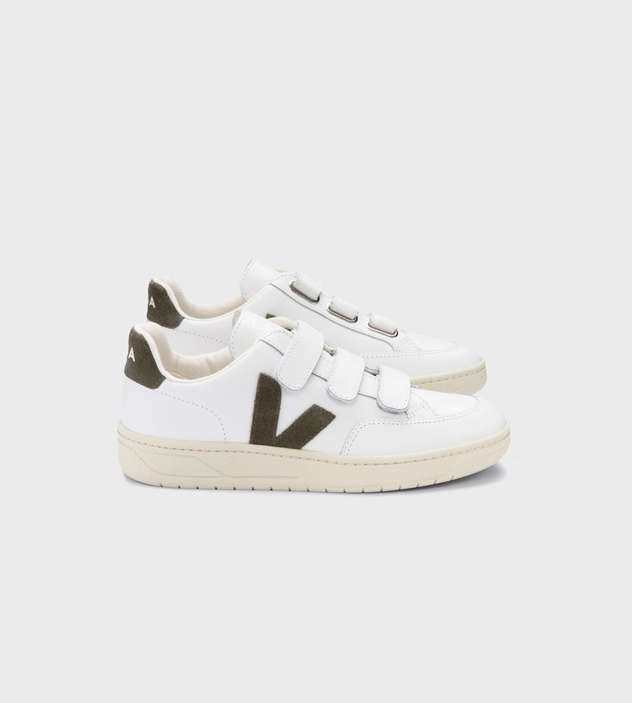 Veja | V-Lock Leather Sneaker | Extra White Kaki