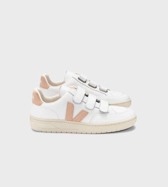 Veja | V-Lock Leather Sneaker | Extra White Sable
