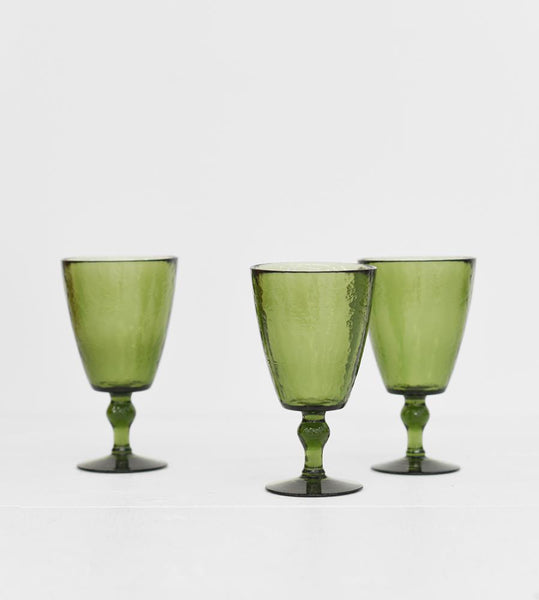 Vitro Wine Glass | Olive
