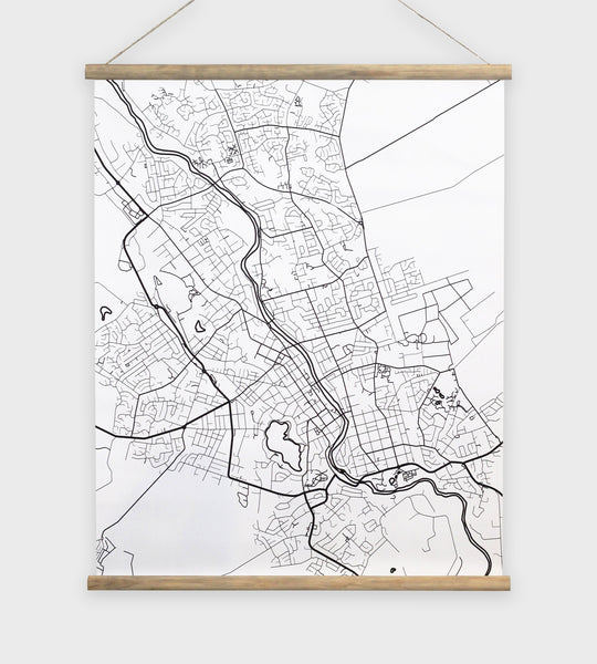 Wall Chart | Map of Hamilton