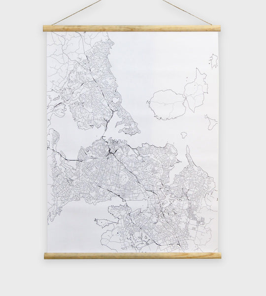 Wall Chart | Map of Auckland | Fine Lines