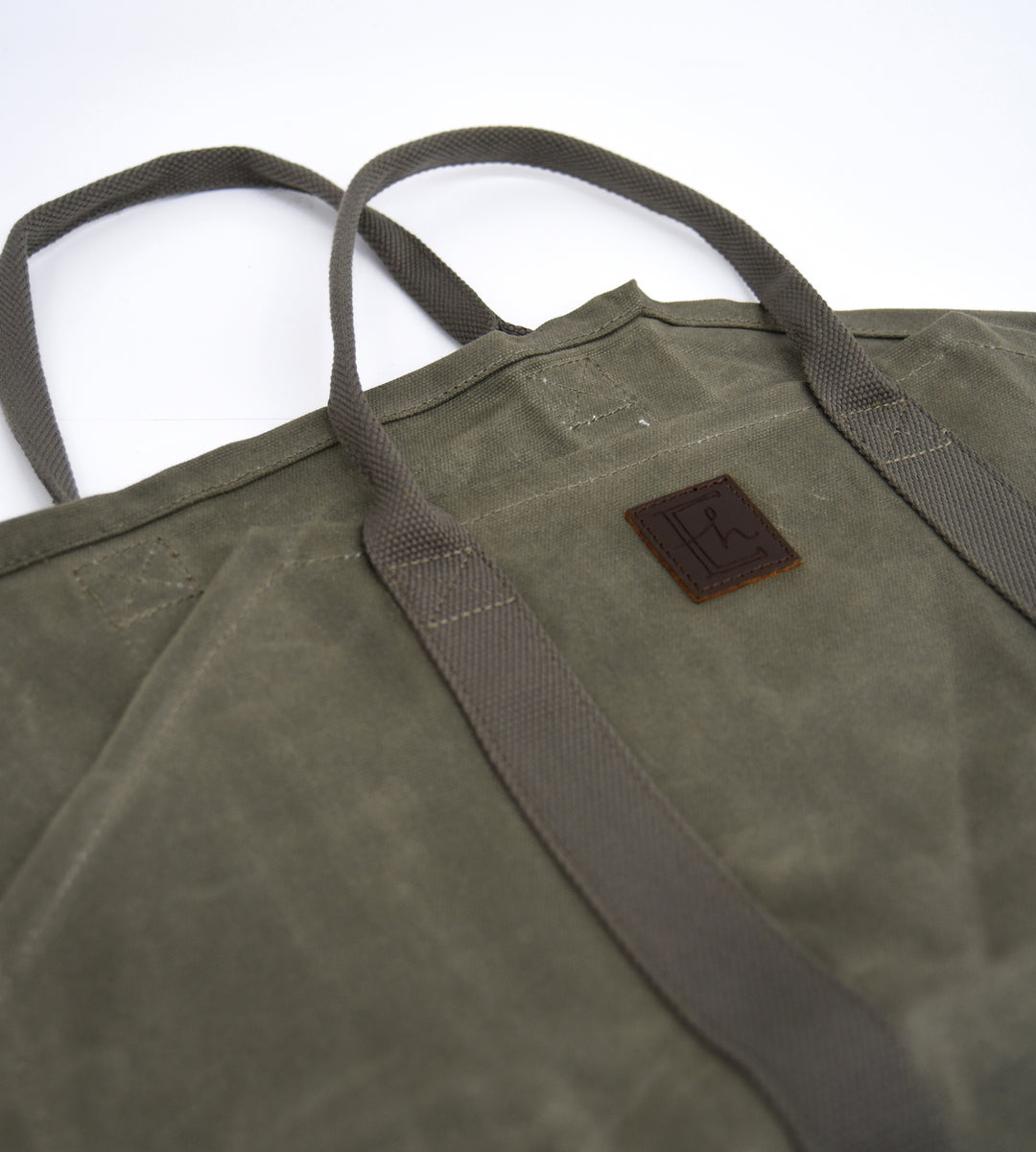 Waxed Canvas Log Carrier
