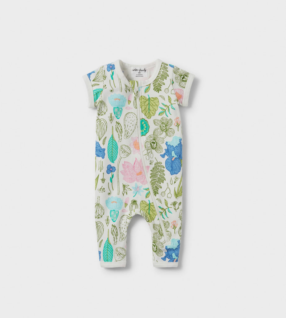 Wilson & Frenchy | Short Sleeve Zipsuit | Flora
