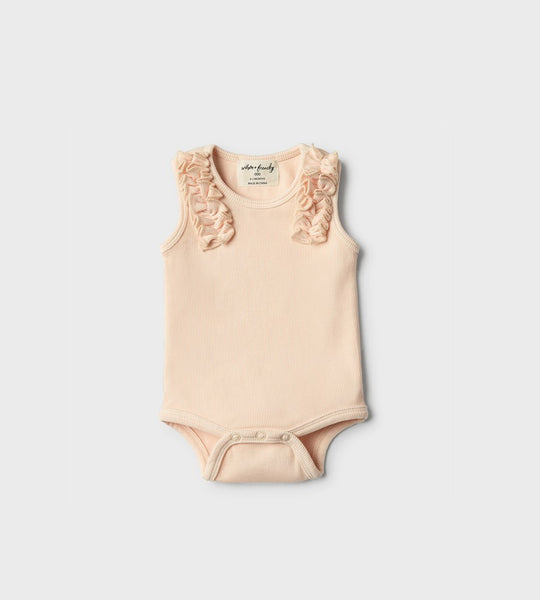 Wilson & Frenchy | Bodysuit with Ruffle | Peach Dust