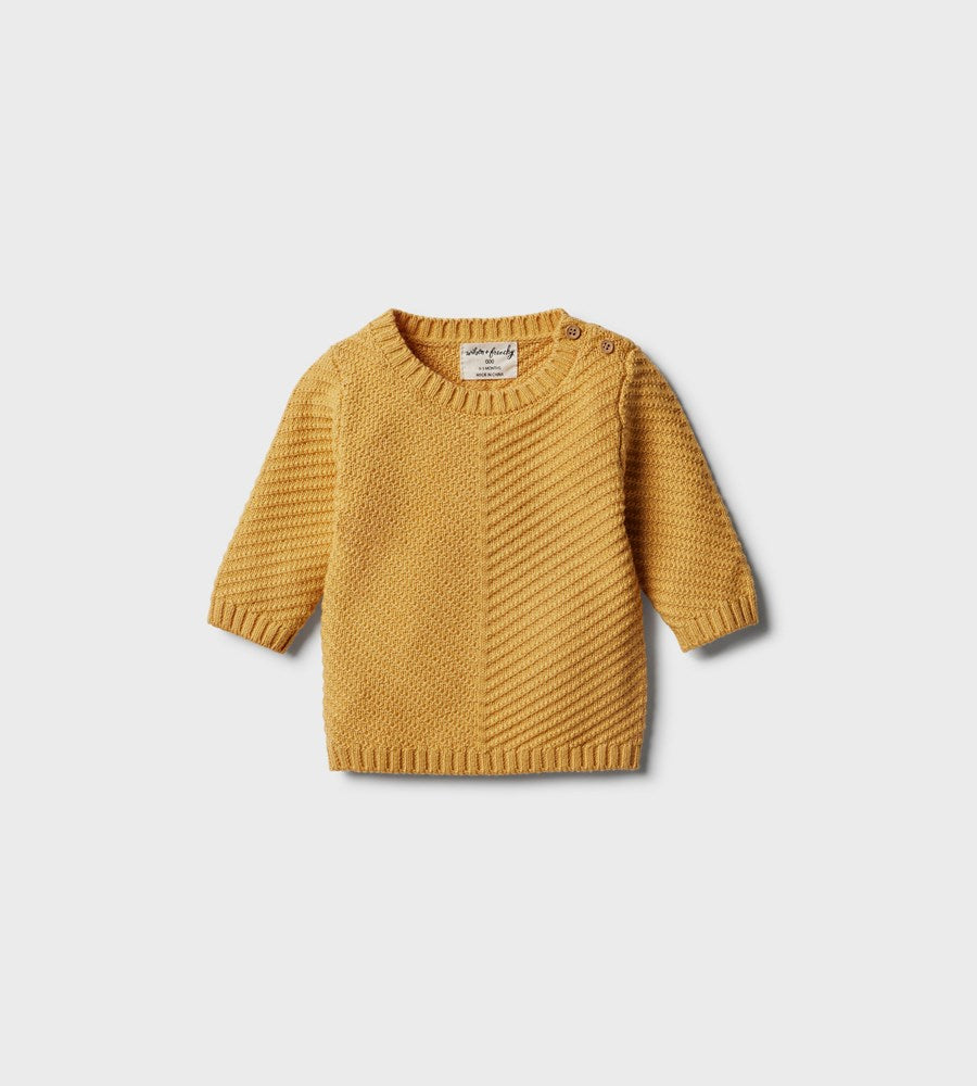 Wilson & Frenchy | Knitted Chevron Jumper | Golden Apricot
