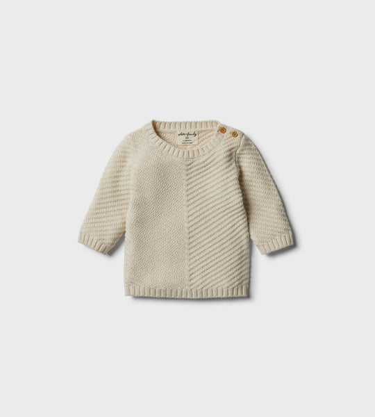 Wilson & Frenchy | Knitted Chevron Jumper | Oatmeal
