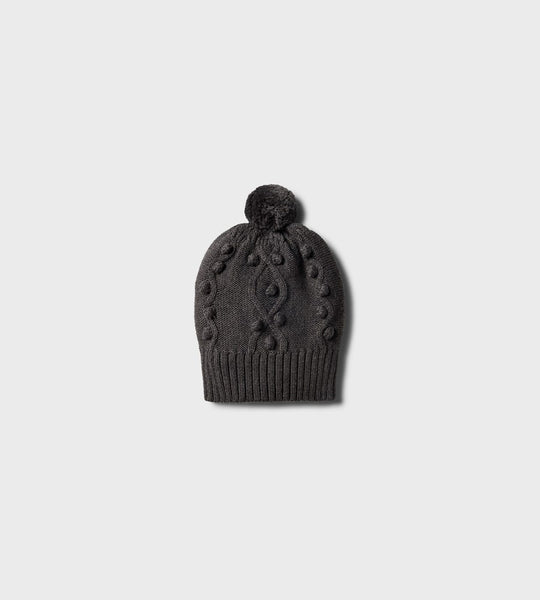 Wilson & Frenchy | Knitted Hat with Baubles | Storm Grey
