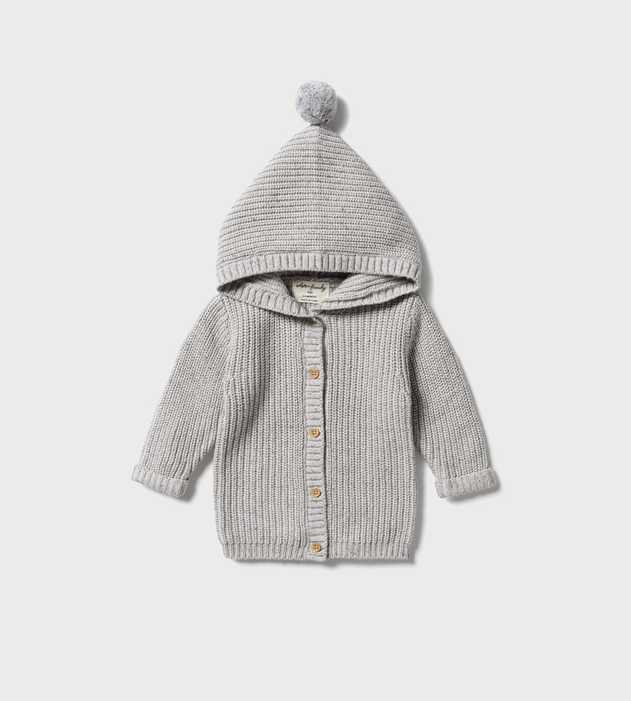 Wilson & Frenchy | Knitted Jacket | Glacier Grey Fleck