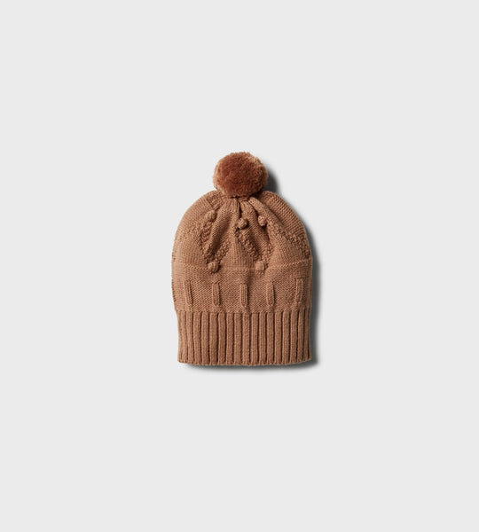 Wilson & Frenchy | Knitted Jacquard Hat | Nutmeg