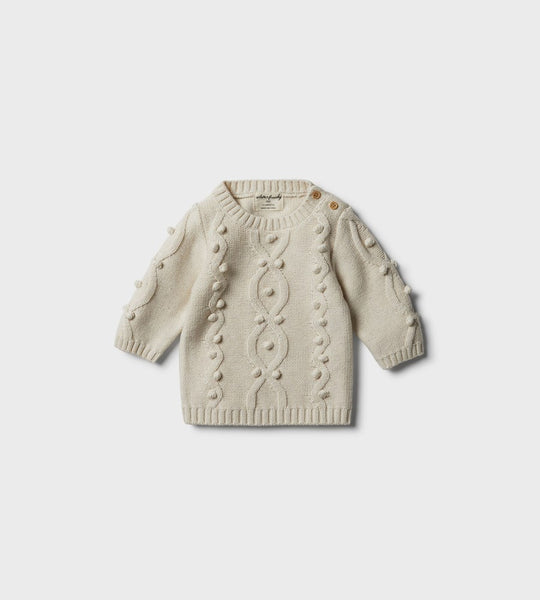 Wilson & Frenchy | Knitted Jumper With Baubles | Oatmeal