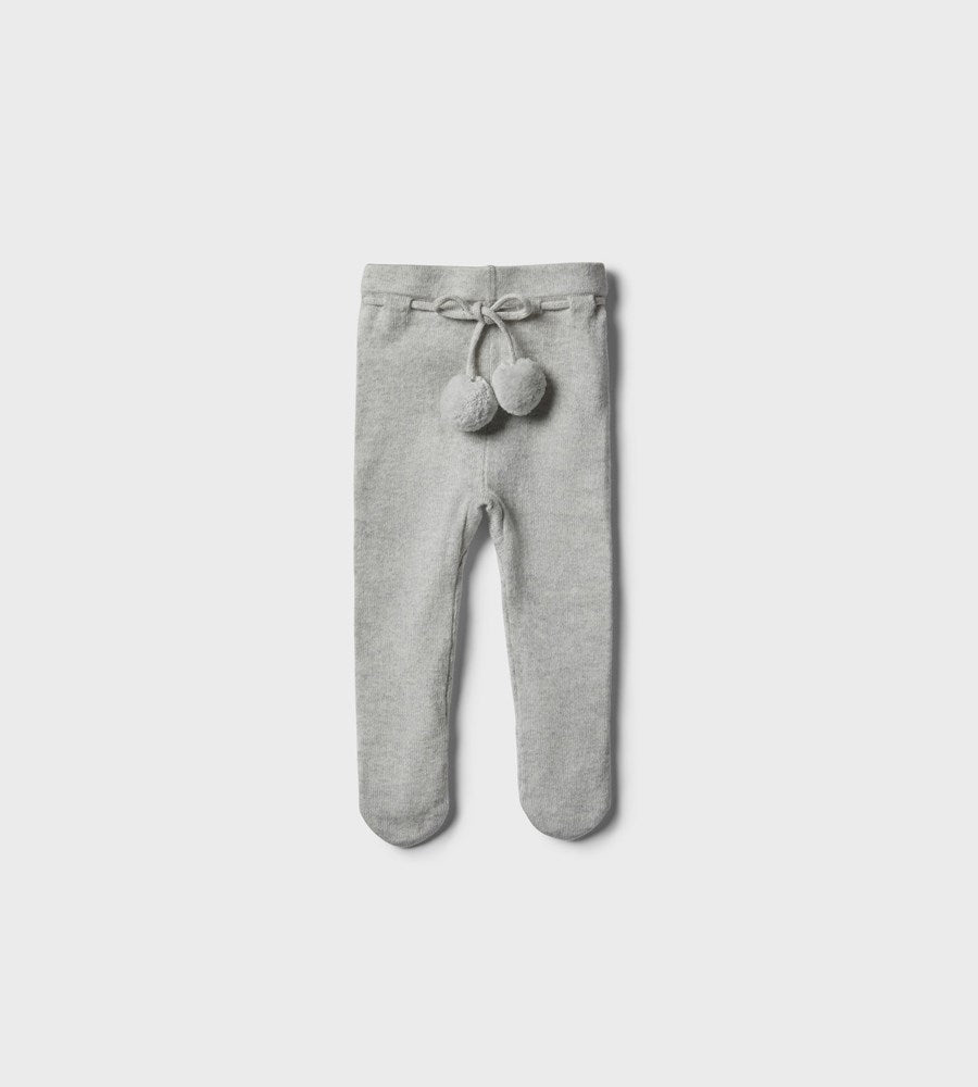Wilson & Frenchy | Knitted Legging with Feet | Cloud Grey