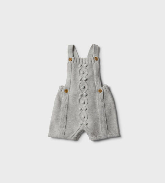 Wilson & Frenchy | Knitted Overall with Baubles | Cloud Grey