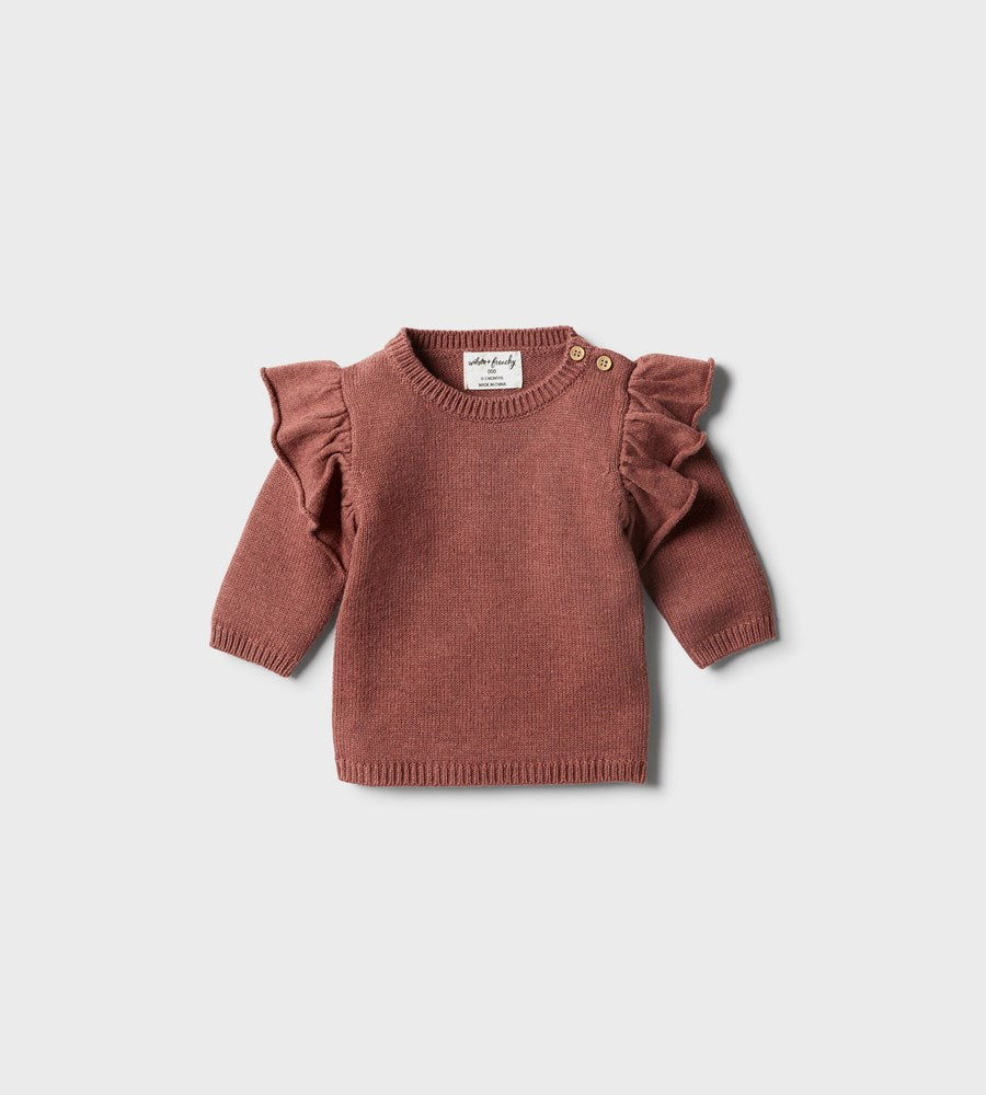 Wilson & Frenchy | Knitted Ruffle Jumper | Chilli Marle