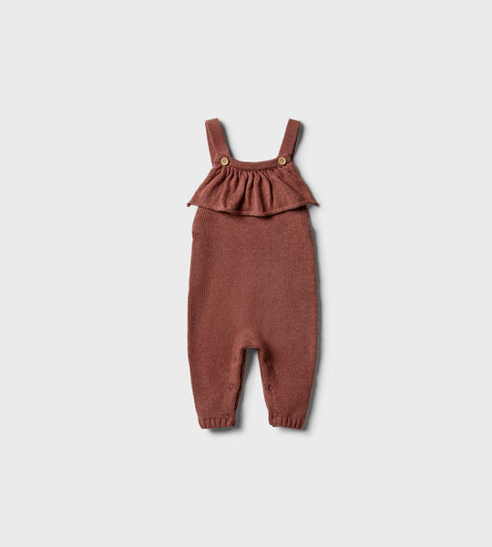 Wilson & Frenchy | Knitted Ruffle Overall | Chilli Marle