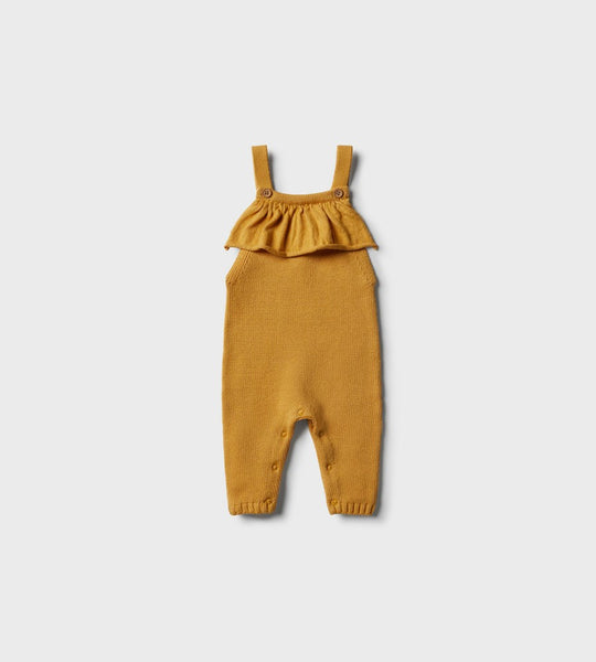 Wilson & Frenchy | Knitted Ruffle Overall | Golden Apricot