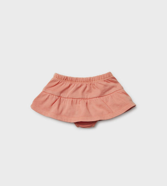 Wilson & Frenchy | Nappy Pant with Ruffle | Peach Pearl