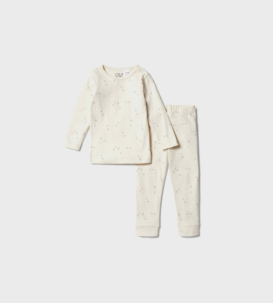 Wilson & Frenchy | Organic Long Sleeve Pyjamas | Floating Dandelions