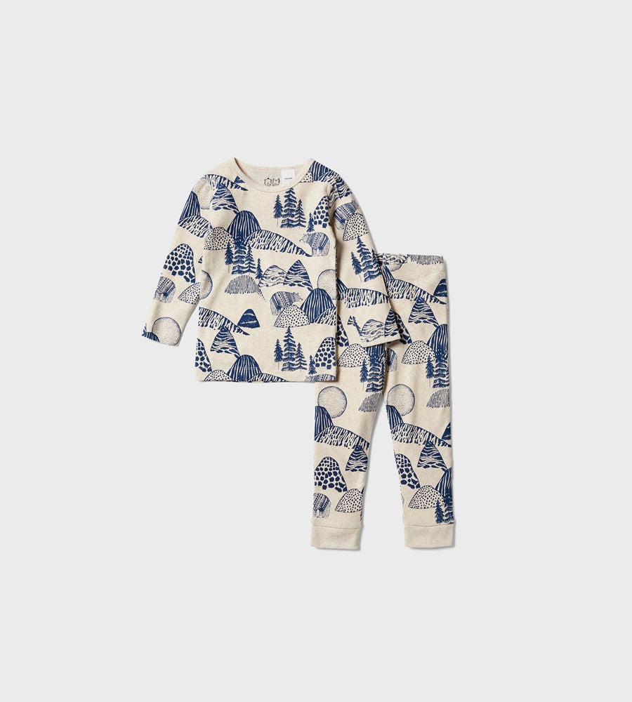 Wilson & Frenchy | Organic Long Sleeve Pyjamas | Little Mountains