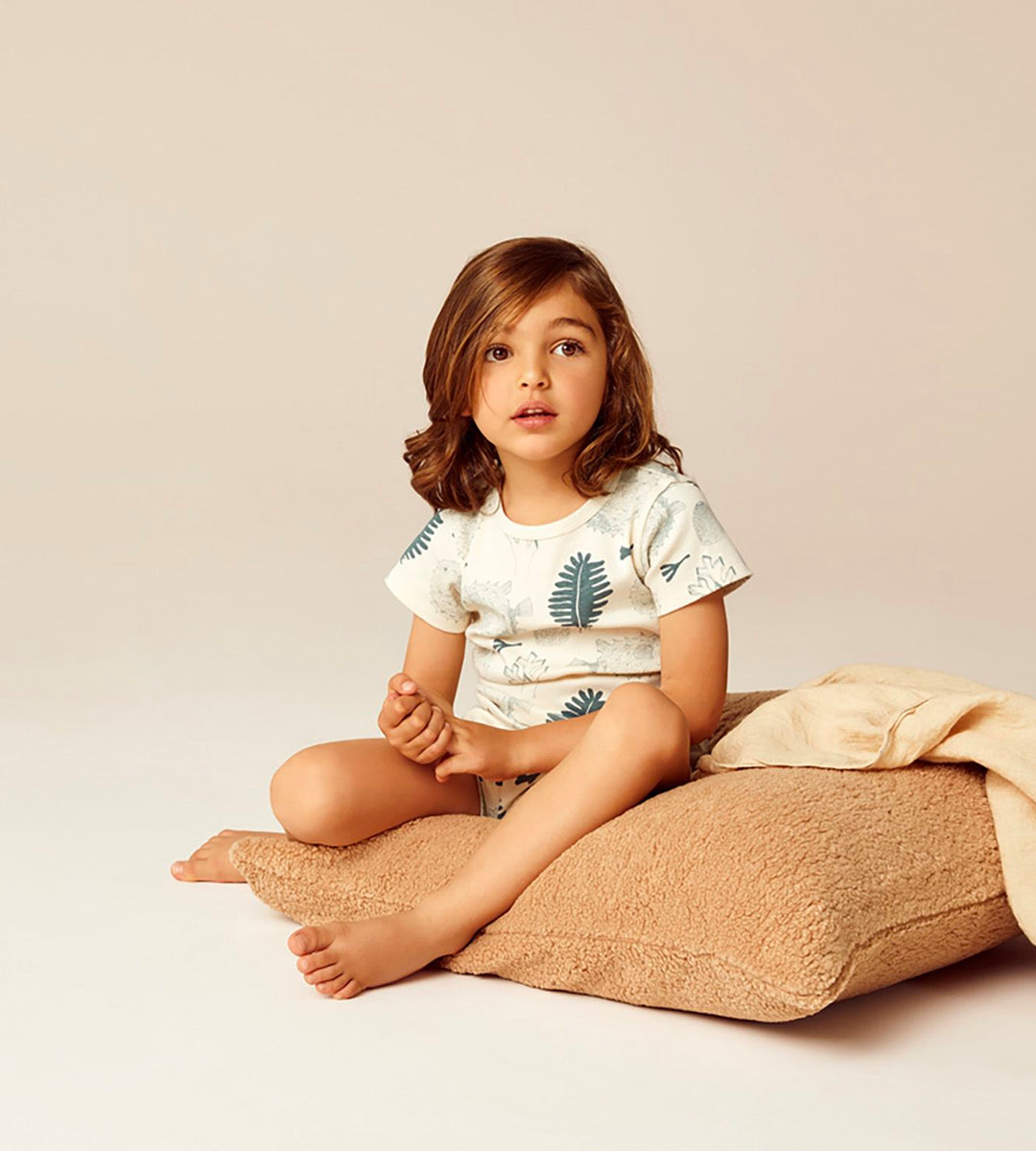 Wilson & Frenchy | Organic Short Sleeve Pyjama Set | Little Ocean
