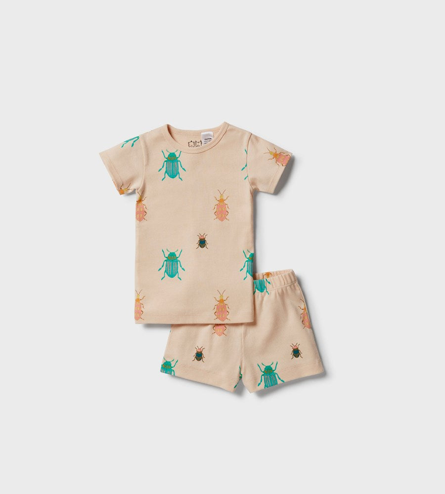 Wilson & Frenchy | Organic Short Sleeve Pyjama Set | Beautiful Bugs