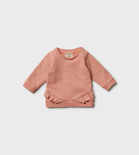 Wilson & Frenchy | Ruffle Sweat | Peach Pearl