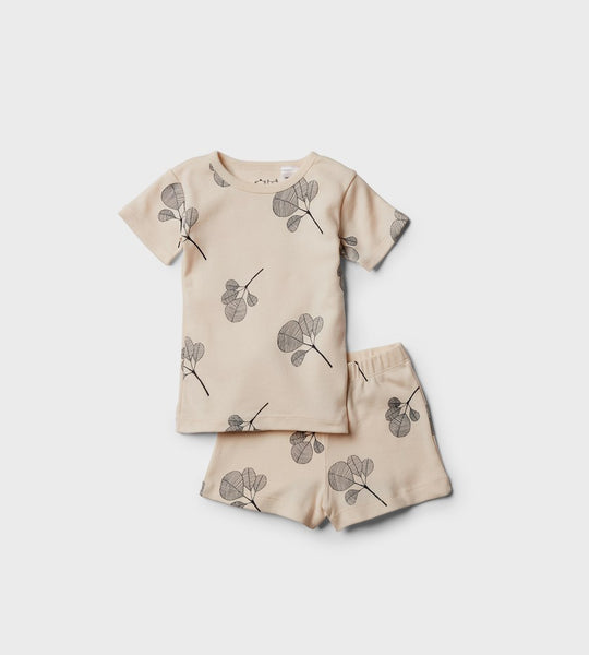 Wilson & Frenchy | Short Sleeve Pyjama Set | Fan Leaf