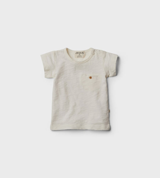 Wilson & Frenchy | Tee with Pocket | Whisper White