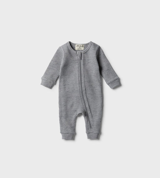 Wilson & Frenchy | Waffle Zipsuit | Cloud Grey