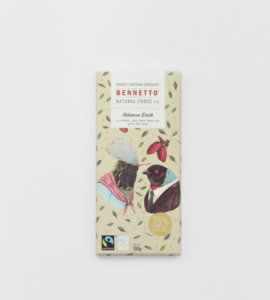 Bennetto Chocolate Bar | Intense Dark 75%