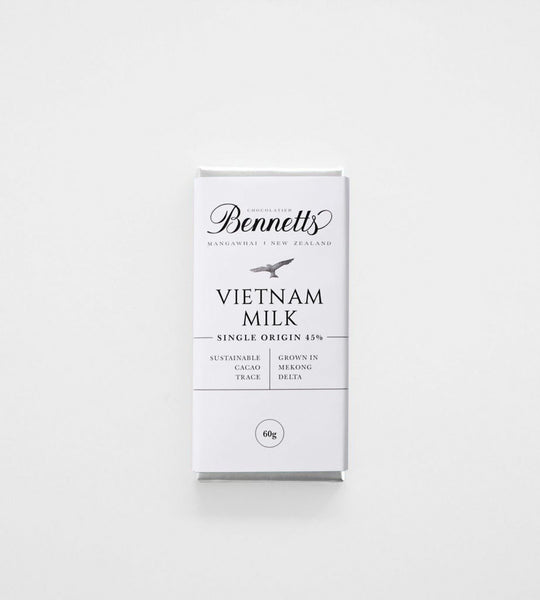 Bennetts of Mangawhai | Milk Vietnam 45% Chocolate Bar