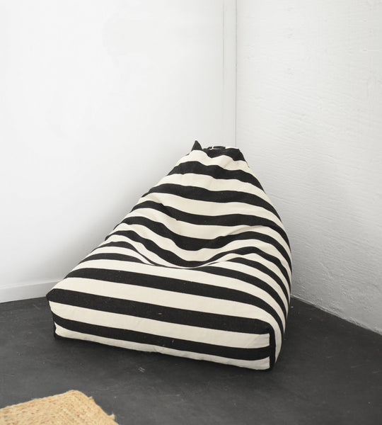 Chief Bean Bag | Black & Cream