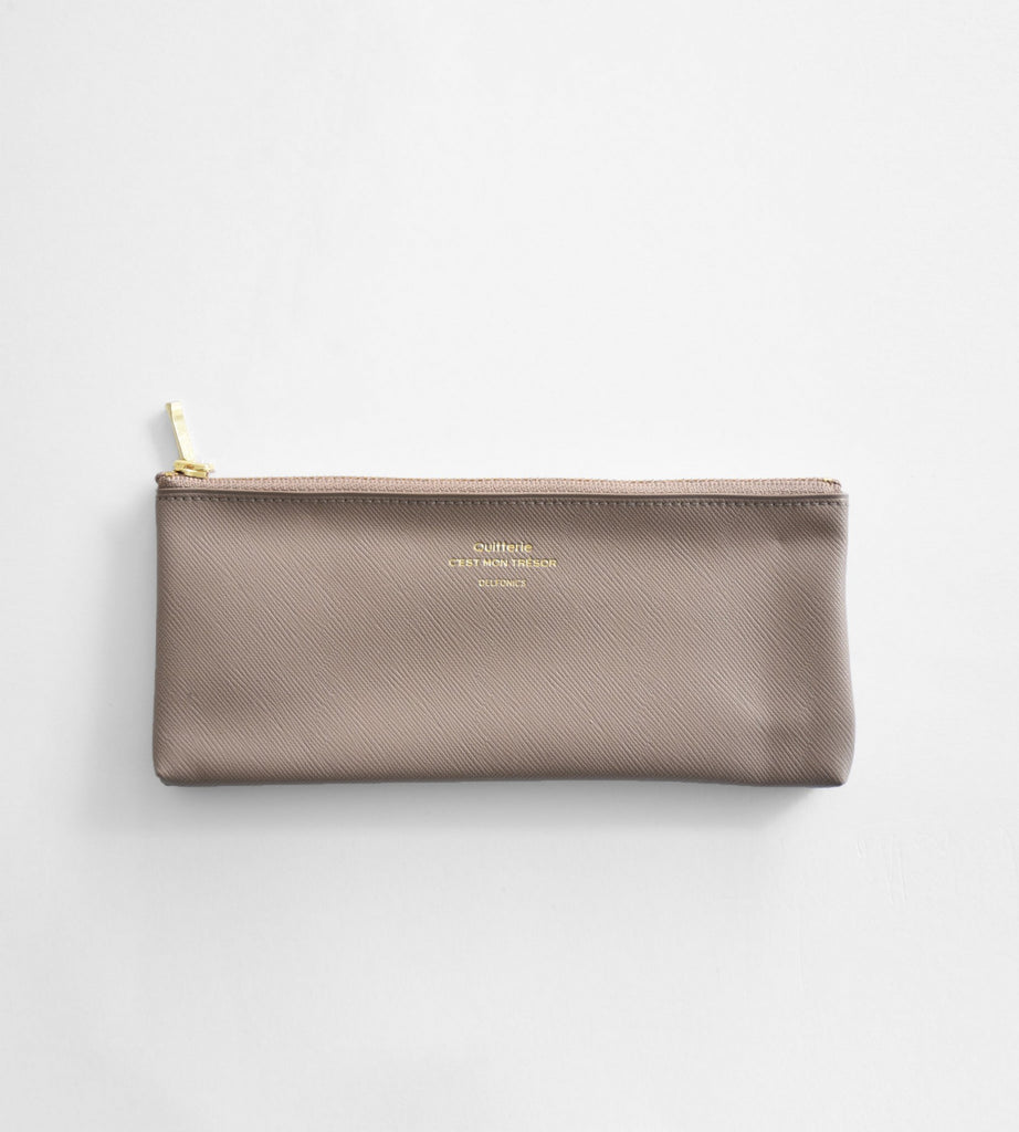 Delfonics | Quitterie Flat Pencil Case | Greige